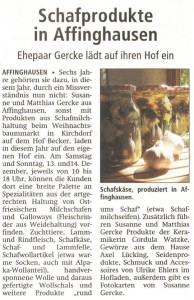 Schafprodukte in Affinghausen